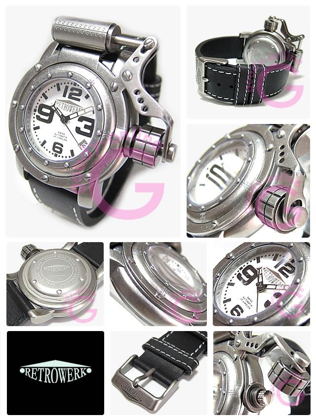 RETROWERK(レトレック/レトロヴェルク) R006/R-006 自動巻き ピストンアーム ミリタリー メンズウォッチ 腕時計