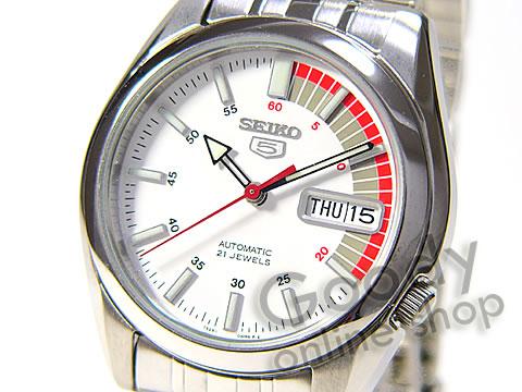 腕時計【SEIKO(セイコー) SEIKO5/セイコー5 SNK369K1 自動巻 メタル ホワイト メンズ ペアウォッチ 腕時計】