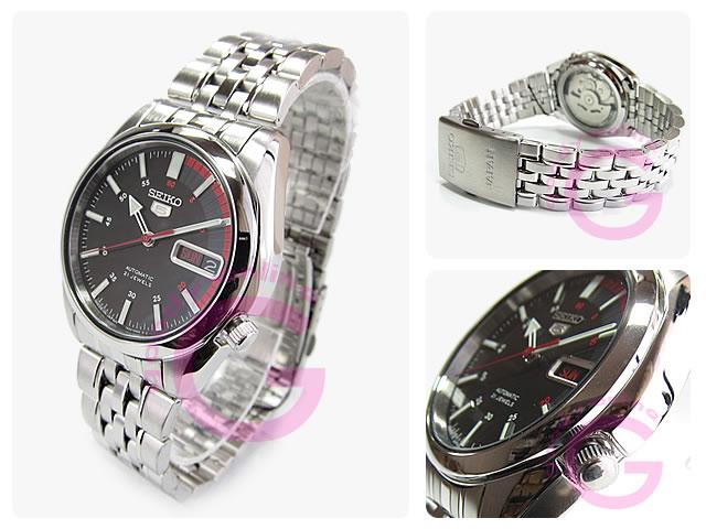 SEIKO5(セイコーファイブ) SNK375J1 自動巻き メタルベルト メンズウォッチ 腕時計