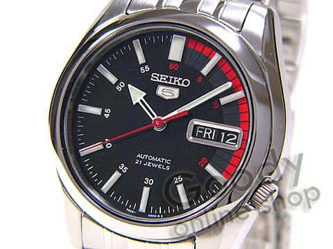 腕時計【SEIKO(セイコー) SEIKO5/セイコー5 SNK375K1 自動巻 メタル ブラック メンズ ペアウォッチ 腕時計】
