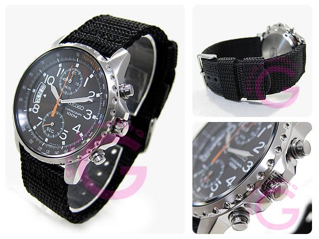 SEIKO(セイコー) SNN079P2 クロノグラフ ナイロンベルト メンズウォッチ 腕時計