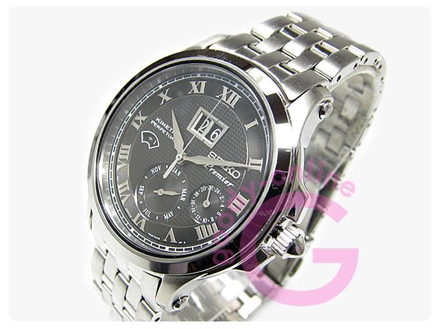 SEIKO(セイコー) SNP041P Premier/プルミエ キネティック パーペチュアルカレンダー メンズウォッチ 腕時計