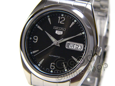 腕時計【SEIKO(セイコー) SEIKO5/セイコー5 SNX123K 自動巻 メタル ブラック メンズウォッチ 腕時計】