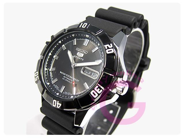 SEIKO5(セイコーファイブ) SNZD17J1 自動巻き スポーツ ラバーベルト メンズウォッチ 腕時計