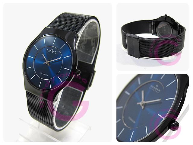 SKAGEN(スカーゲン) 233LTMN ウルトラスリム チタン メッシュ メンズウォッチ 腕時計
