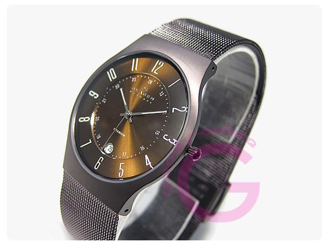 SKAGEN(スカーゲン) 233XLTMD ウルトラスリム チタン メッシュ メンズウォッチ 腕時計