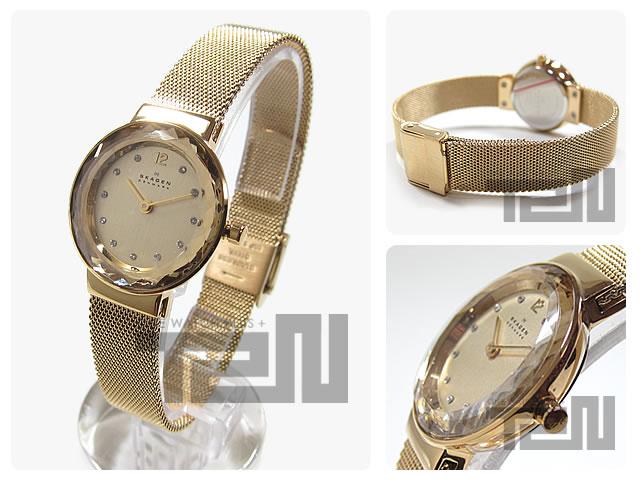 SKAGEN(スカーゲン) 456SGSG カットベゼル メッシュベルト レディースウォッチ 腕時計