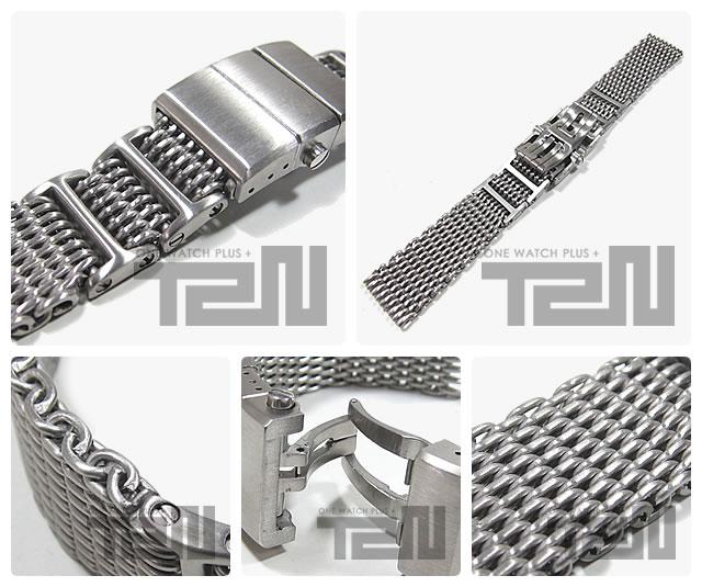 T2N Strap (T2Nストラップ) SHARK MESH T2N-12WHID-1600 1.2mm ワイヤー使用 ステンレスメッシュベルト