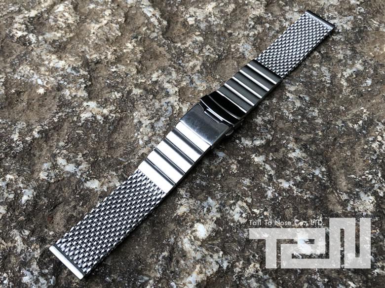 T2N Strap (T2Nストラップ) SHARK MESH T2N-MB1010-12WSL 1.2mm ワイヤー使用 ステンレスメッシュベルト