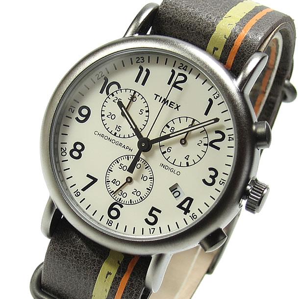 TIMEX (タイメックス) TW2P78000 Weekender/ウィークエンダー セントラルパーク フルサイズ クロノグラフ メンズウォッチ 腕時計