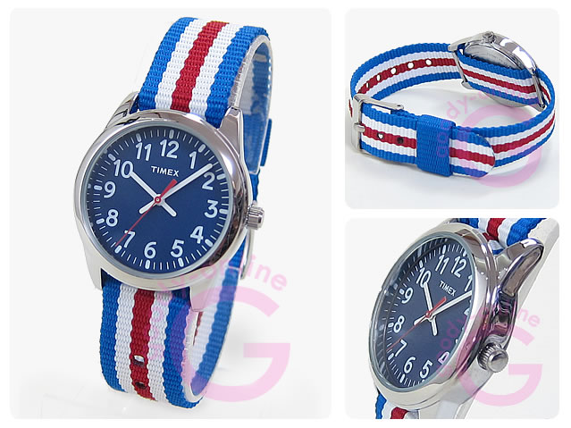 TIMEX (タイメックス) TW7C09900 TIMEX KIDS/タイメックスキッズ ナイロンベルト ブルー キッズ・子供にオススメ! かわいい! キッズウォッチ 腕時計