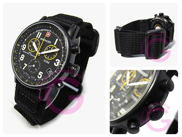 WENGER(ウェンガー)  70724XL コマンド ナイロンベルト ミリタリー メンズウォッチ 腕時計