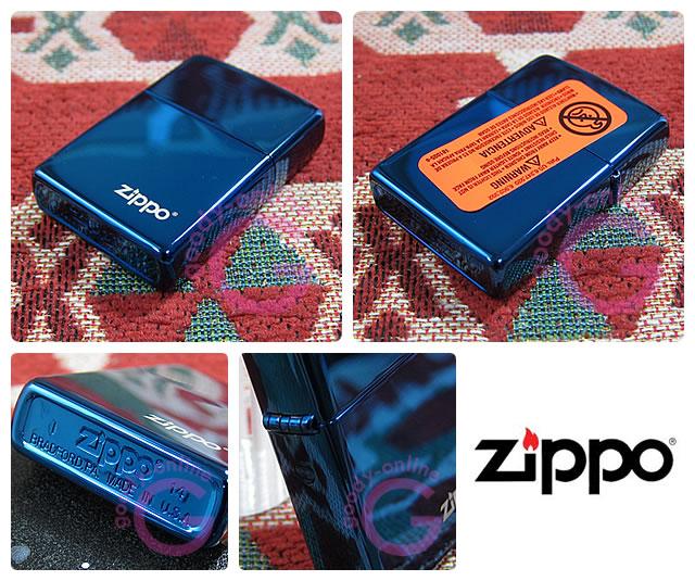 ZIPPO(ジッポー)20446ZL Sapphire Blue/サファイアブルー ZIPPOロゴ FULL SIZE ZIPPO LIGHTER/ジッポライター