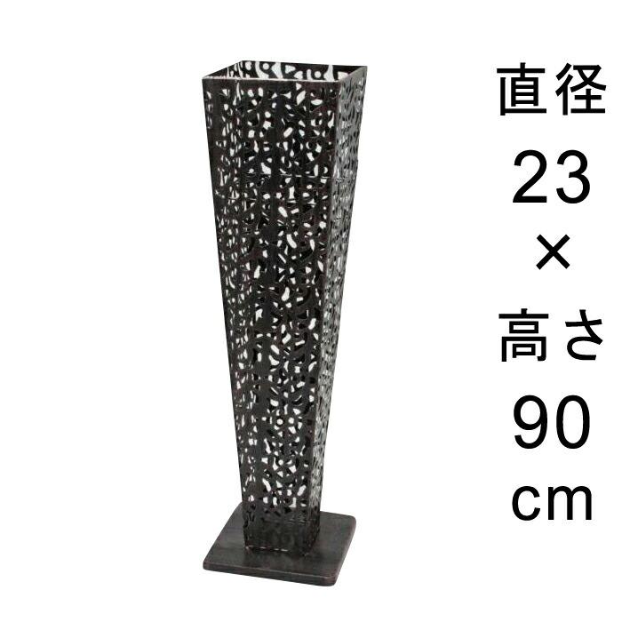 アイアンフラワースタンド角型アンティークブラック23cmH90cm