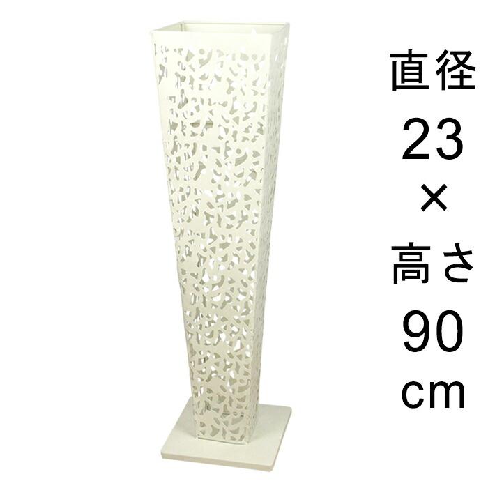 アイアンフラワースタンド角型アンティークホワイト23cmH90cm