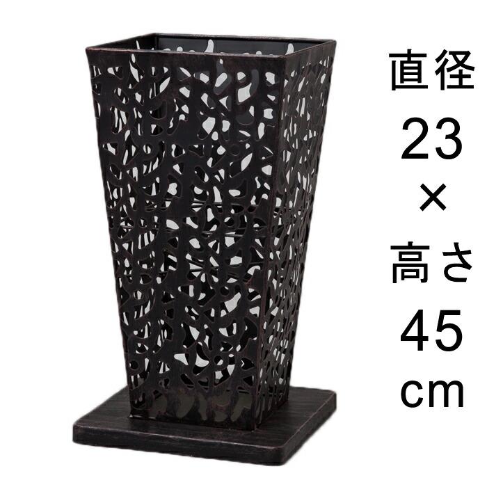 アイアンフラワースタンド角型アンティークブラック23cmH45cm