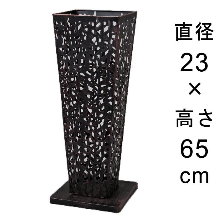 アイアンフラワースタンド角型アンティークブラック23cmH65cm
