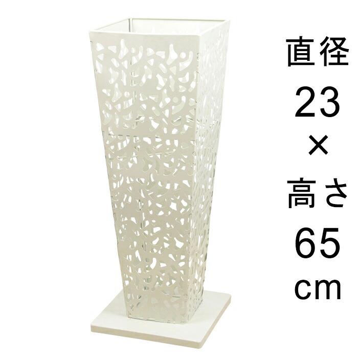 アイアンフラワースタンド角型アンティークホワイト23cmH65cm