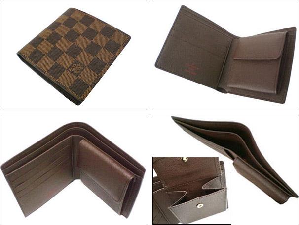 4256e0301591 パドロックとセット ルイ ヴィトン 二つ折り 財布 ダミエ ポルトフォイユマルコ LOUIS VUITTON N61675 ヴィトン 財布