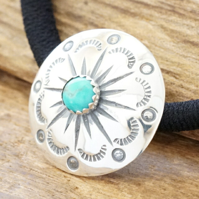 Turquoise Stamp Concho Hair Rubber