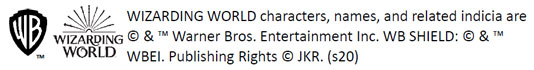WIZARDING WORLD characters, names, and related indicia are (C) & (TM) Warner Bros. Entertainment Inc. WB SHIELD: (C) & (TM) WBEI. Publishing Rights (C) JKR. (s20)