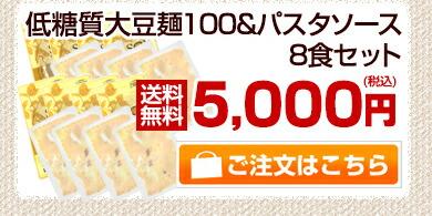 大豆麺100&パスタソース8食セット