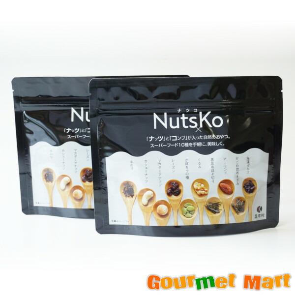 【ゆうパケット限定/送料込】北海道限定 NutsKo(ナツコ) ナッツ×昆布のおやつ 2袋セット