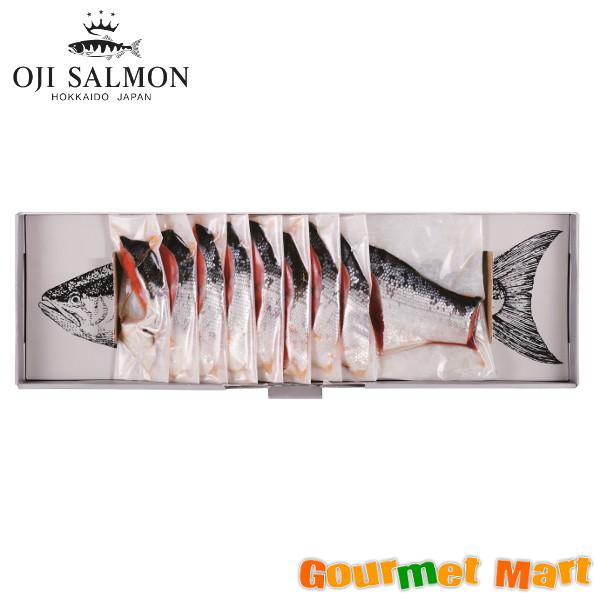 北海道 王子サーモン カナダ産紅鮭姿切半身700g