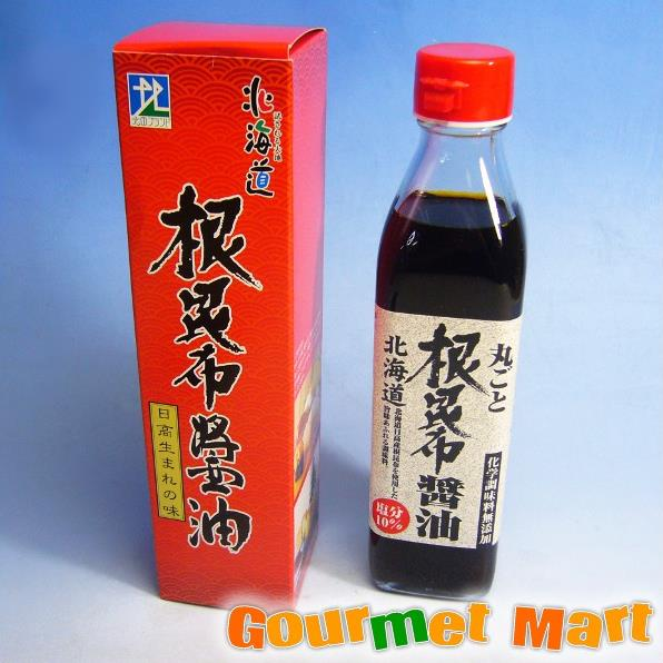 北海道限定 丸ごと根昆布醤油 300ml
