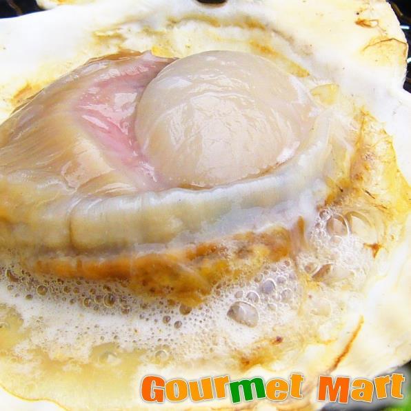 北海道産 ホタテ片貝10枚よつ葉バターセット