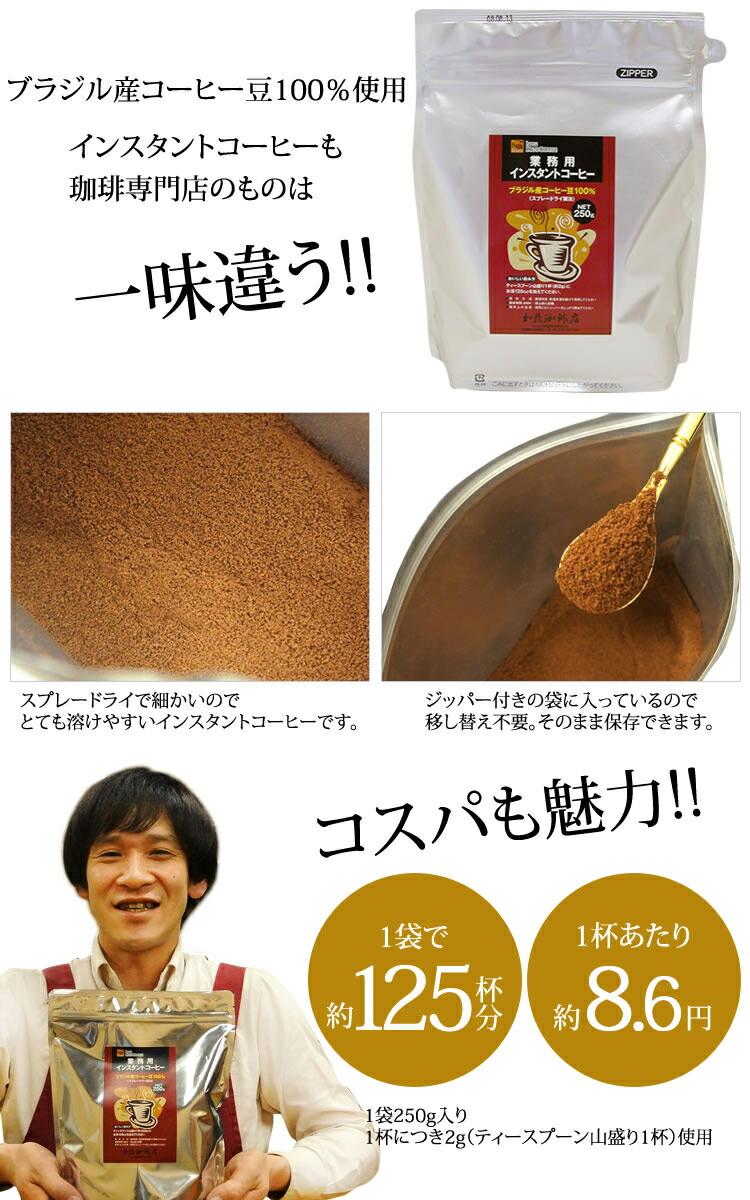 ブラジル産珈琲豆100%使用 コスパも魅力