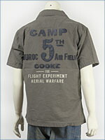 アビレックス 半袖 レザーパッチシャツ AVIREX S/S LEATHER PATCH SHIRT 6125000-19