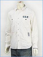 アビレックス リペアー U.S.N. ボタンダウンシャツ AVIREX L/S REPAIR U.S.N. SHIRT 6135009-01 長袖