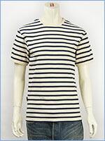 アビレックス デイリー 半袖 ボーダーTシャツ 2×2リブ クルーネック AVIREX DAILY WEAR S/S CREW NECK BORDER TEE 6143410-02