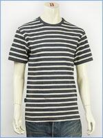 アビレックス デイリー 半袖 ボーダーTシャツ 2×2リブ クルーネック AVIREX DAILY WEAR S/S CREW NECK BORDER TEE 6143410-19