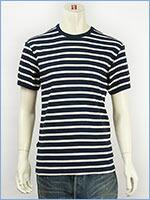 アビレックス デイリー 半袖 ボーダーTシャツ 2×2リブ クルーネック AVIREX DAILY WEAR S/S CREW NECK BORDER TEE 6143410-87