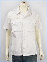 アビレックス 半袖 ミリタリー パッチシャツ AVIREX S/S U.S.MARINES PATCHED SHIRT 6155091-01