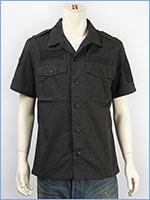 アビレックス 半袖 ミリタリー パッチシャツ AVIREX S/S U.S.MARINES PATCHED SHIRT 6155091-19