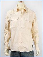 アビレックス 長袖 パッチ ミリタリーシャツ AVIREX L/S PATCHED MILITARY SHIRT