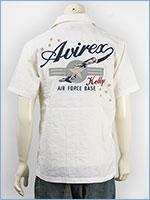 アビレックス 半袖 刺繍 ケリーシャツ AVIREX S/S KELLY EMBROIDERY SHIRT 6165119-01