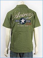 アビレックス 半袖 刺繍 ケリーシャツ AVIREX S/S KELLY EMBROIDERY SHIRT 6165119-75