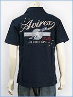 アビレックス 半袖 刺繍 ケリーシャツ AVIREX S/S KELLY EMBROIDERY SHIRT 6165119-87