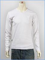アビレックス デイリー 長袖 Tシャツ Vネック リブ AVIREX DAILY L/S TEE SHIRT V NECK RIB 6153480-01