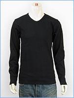 アビレックス デイリー 長袖 Tシャツ Vネック リブ AVIREX DAILY L/S TEE SHIRT V NECK RIB 6153480-09
