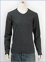 アビレックス デイリー 長袖 Tシャツ Vネック リブ AVIREX DAILY L/S TEE SHIRT V NECK RIB 6153480-19