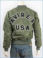 アビレックス MA-1 コマーシャル ロゴ AVIREX MA-1 COMMERCIAL LOGO 6162164-73