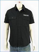 アビレックス ファティーグ カーキシャツ ミリタリー AVIREX S/S FATIGUE KHAKI SHIRT 6175093-01