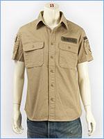 アビレックス ファティーグ カーキシャツ ミリタリー AVIREX S/S FATIGUE KHAKI SHIRT 6175093-53