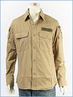 アビレックス ファティーグ カーキシャツ AVIREX L/S FATIGUE KHAKI SHIRT 6175140-53