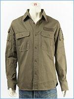 アビレックス ファティーグ カーキシャツ AVIREX L/S FATIGUE KHAKI SHIRT 6175140-75